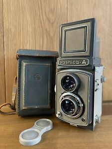 Rare Gray : App Near Mint w/ Case Yashica-A TLR 6x6 Film Camera From Japan