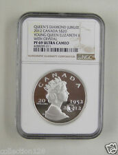 Canada Silver Coin 20 Dollars 2012,Queen's Diamond Jubilee,NGC PF 69 ULTRA CAMEO