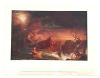 VINTAGE THOMAS COLE VOYAGE OF LIFE: MANHOOD 1842 NATIONAL GALLERY OF ART PRINT