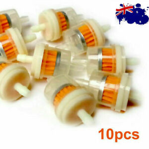 """10x 1/4""""6mm/8mm Inner Inline Fuel Filter Petrol Pipe Small Engine Lawn Mower AU"""