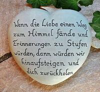 Wenn die Liebe...wir...dich   Herz mit Inschrift 23x21 cm  Grabschmuck Grabstein