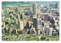 Vintage Postcard Aerial View of Sidney Australia Airmail Postmark J21A