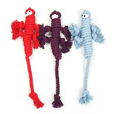 Durable Lizard Doll Tough Dog Clean Teeth Cotton Rope Chewing Toy Puppy Teething