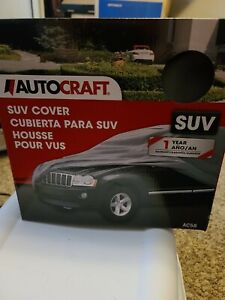 """AutoCraft Easy Fit SUV Cover, Fits SUVs 14' - 15'6"""" (Grey) - NEW AC58"""