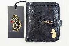 LUKE BEWDLEY - Portemonnaie Herren Leder schwarz Geldbörse Vintage Usedlook