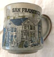 Vintage San Francisco Speckled Cityscape City Houses Art Coffee Cup Mug