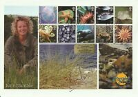 1 FEB 2007 SEA LIFE FDC HAND SIGNED BY TV PRESENTER KATE HUMBLE SHS