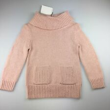 Girls size 8, Witchery Girl, pink crop knit winter jumper, roll neck,