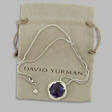 David Yurman 14MM Amethyst Infinity Medium Pendant Necklace 925 Silver + Chain