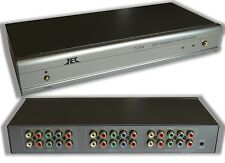 2in x 4out Component Video Stereo RCA Audio Splitter Distribution Amplifier Amp