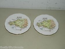 2 Vintage Roslyn Fine Bone China South Wales Bread Plate 16969
