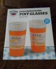 Prescription Pint Beer Glasses 16 oz. NIB by Big Mouth Toys