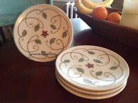 Pfaltzgraff Mission Flower  Salad/Lunch Plates   Set of 4