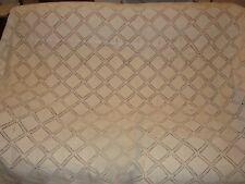 couvre lit gros fil coton ancien  dentelle crochet main Poids 4,2kg vintage