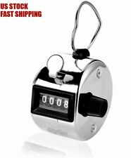 Hand Tally Counter 4-Digit Mechanical Palm Number Clicker With Finger Ring