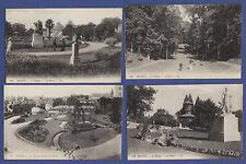 A539) Lot x4 CPA Cartes postales anciennes RENNES LE THABOR / LES SERRES Etc.
