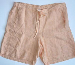J.Jill Love Linen Peach Bermuda Shorts Plus Size 2X Elastic Back Waist