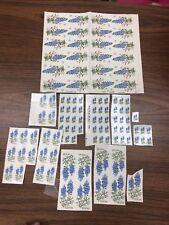 Lot #2 Vtg Waterslide Ceramic Decal Texas Blue Bonnets Spain Flowers