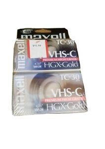 Lot Of 2 Maxwell VHS-C TC-30 Premium High Grade HGX-Gold