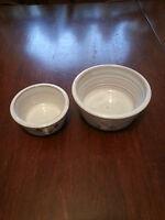 JAN LEE - Vintage North Carolina Pottery Hand Thrown - Set Of Two Small Bowls