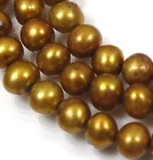 """A+ 5mm Bronze Genuine Freshwater Pearl Smooth Potato Round Beads 14"""""""