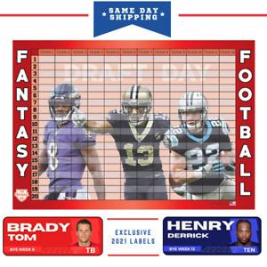2021 Fantasy Football Draft Board & Labels - DRAFT KIT -The Football DR