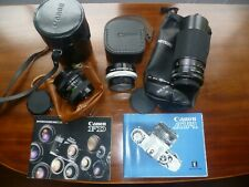 JOB LOT PHOTOGRAPHIC LENSES CANON, CENTAGON & MITSUKI & CASES & BOOKLETS