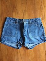 OLD NAVY The Best in DENIM BLUE JEANS Women's Bootie Pop SHORTS Pants SIZE 6 ❤