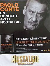 PUBLICITE  RADIO   NOSTALGIE  PAOLO CONTE  EN 2011   REF 8317
