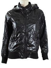 DKNY WOMEN'S NYLON FULL ZIP HOODIE JACKET, SIZE M