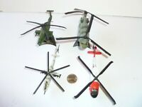 Maisto DIE CAST Helicopter LOT OF 4 Helicopters