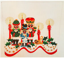 Strictly Christmas Hand painted needlepoint canvas Nut Crackers stocking cuff