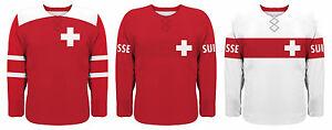 NEW 2021 Team Switzerland Hockey Jersey NHL Josi Streit Niederreiter Weber