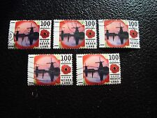 PAYS-BAS - timbre yvert et tellier n° 1547 x5 obl (A31) stamp netherlands (T)