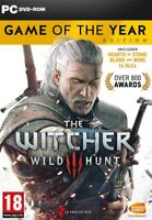 The Witcher III 3 Wild Hunt Game Of The Year Edition PC DVD * NEW SEALED PAL *
