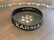 PEACE LOVE WORLD KARMA  SILICONE BRACELET NEW I am Karma