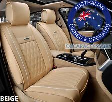 Beige Universal Leather Car Seat Covers Full Set Toyota Camry Corolla RAV4 JP