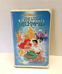 Vintage Little Mermaid Black Diamond VHS Tape Cartoon Banned Penis Cover Classic