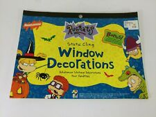 Rugrats Halloween Window Decorations Static Cling Book 1999 Vintage Unused
