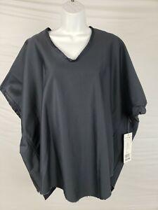 NWT $227 Skif/Skifo One Size Dark Grey 100% Cotton Oversized Short Sleeve Shirt