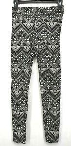Pink Victorias Secret Womens Black & White Geometric Print Tight Fit Leggings S