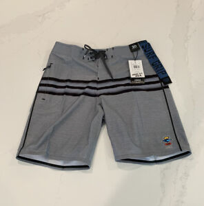 Mens RIP CURL Fanning Trifecta Size 34 Boardshorts 79$ MSRP