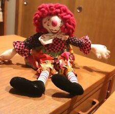 OOAK ONE OF A KIND VINTAGE Handmade Clown DOLL 24""