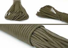 Paracord Seil Survival aus reißfestem Parachute Cord Seile 550 lbs 31m olivgrün