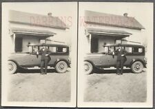Vintage Car Photos Man & 1927 REO Flying Cloud Automobile 761734