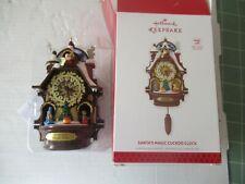 Hallmark Santa's Magic Cuckoo Clock NEW in Box