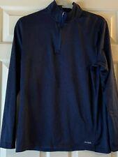Tek Gear Athletic Pullover Shirt 1/4 Zip Sweatshirt Heather Blue Size Mens S