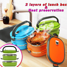 Stainless Steel Thermal Insulated Lunch Box Bento Food Picnic Container US Stock