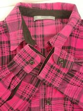 Lee Riders XL Soft Fleece Pink Plaid Flannel Shirt