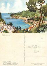 S Margherita Ligure Insenatura di Portofino ILLUSTRATORE FRATTINI (I-L 020)